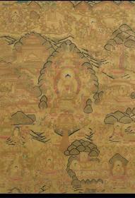 清代 唐卡《釋迦牟尼佛像》(金箋彩繪)
