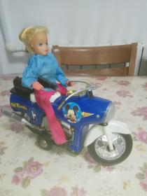 老玩具 摩托女郎