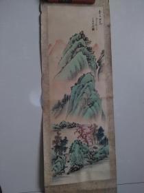 【青山桂泉.一九七五年二月 手绘:王金海】