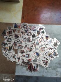 球星卡.篮球(银卡)  110张.其中有2张有签名.看图.