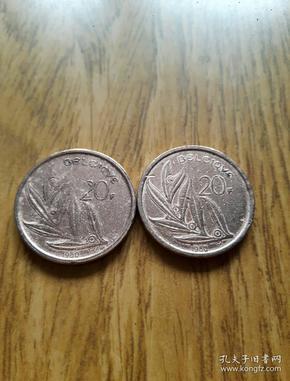 比利时镀铜币20法郎(1980年)叶瓣设计图