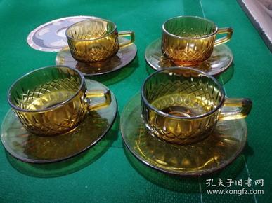 70年代末茶色玻璃咖啡杯之T6206(4套全品)
