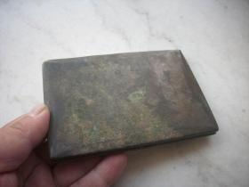 民国铜鎏银【名片夹】!卡子坏了,扣不住。12/8.5厘米