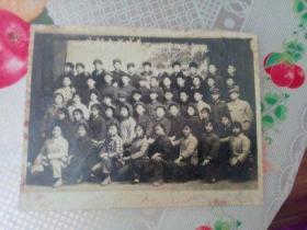 老照片   一代新人在成长  五七中学74届高三班合影  发黄自然旧