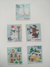 日本邮票·14年冬季的问候5信
