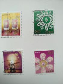 日本邮票·13年问候4信
