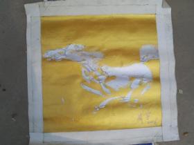 著名油画家成宇2006年作油画 奔马  保真