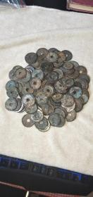 青铜钱150个乾隆,嘉庆。品相如图包老包真一起走5元1个。不议价。