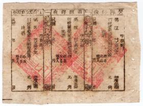 解放区税收票证----山西省崞县