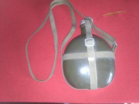 纯铝塞子盖 军用水壶(估计60年代)