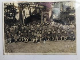 昭和17年日本学生合影照片