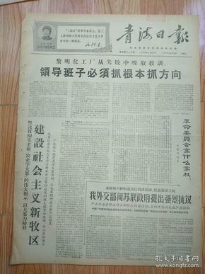拍卖《青海日报》1968年4月5日版全,一份。建设社会主义新牧区。