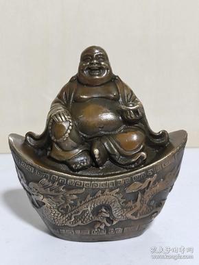 纯铜佛像元宝弥勒佛笑财神(多平台同售,请先咨询情况,避免已售。)