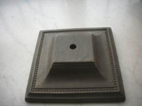 清末民国-铜台灯底座!可放佛造像等!包浆润厚厚重!底径15.3厘米,上径6厘米,高4.5厘米