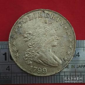 外国硬币美国硬币自由图案女人头像与飞鹰1799图案硬币镍币珍藏收藏