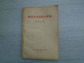 社会主义文化大革命材料汇编(32开平装一本,保证原版正版老书。详见书影)