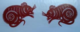 凤翔传统民间剪纸--窗花6(1对)