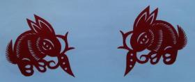 凤翔传统民间剪纸--窗花7(1对)