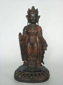 铜佛像50公分高,造型独特,包浆自然,,有历史的沧桑感!!!!!!