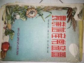 1954年一版一印的挂图《农业增产常识挂图》(全套应有十张,现存1--9张及封套,没有另附的说明书!!品相挺好,缺第十幅和说明书!)(仅印了3千套!)