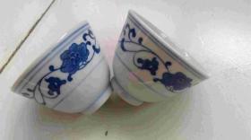人民瓷厂景德镇瓷碗两个
