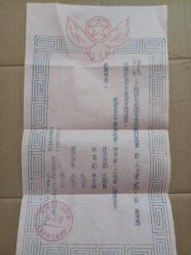 1955年中国新民主主义青年团批准入团证书(天津纺织工业学校中国新民主主义青年团委员会) 油印