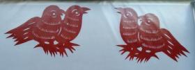 凤翔传统民间剪纸--窗花1(1对)