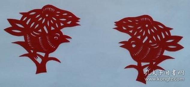 凤翔传统民间剪纸--窗花2(1对)