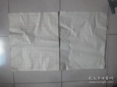老黄纸:方格纸2本(70余张)〔规格:48cm×39cm〕