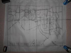 江苏省省会镇江市区道路图 手绘