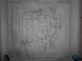 镇江地区日军侵占时期修筑路线图 手绘