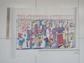 濰坊木版手工拓制傳統年畫(民間書法與繪畫結合之經典)