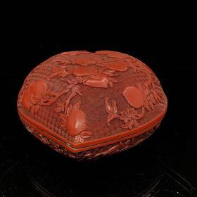 漆器寿桃盒长25,宽23.5 ,高12 厘米