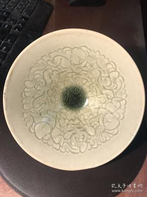 """宋金茶盏-----南宋吉州窑青釉戏婴纹斗笠碗(俗称""""娃娃碗"""",精稀品)"""
