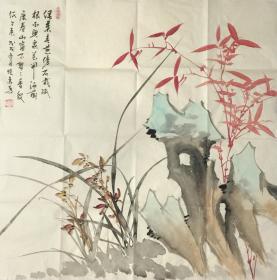 【保真】【刘晓东】河北省美协会员、四尺斗方花鸟作品(68*68CM)11