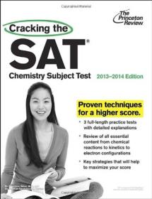【正版现货】Cracking the SAT Chemistry Subject Test, 2013-2014 Edition 破解SAT化学