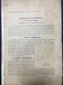 中国昆虫学奠基人胡经甫院士民国抽印本(英文,载1939年北京博物学杂志)