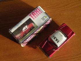 80年代 铁皮玩具出租车 原厂库存全新