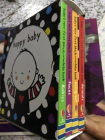 盒装 4册 纸板书 尾单 Baby's Very First Black & White Little Library  宝贝的第一个黑白小图书馆