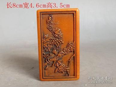 清代传世雕工精致的老田黄石印章