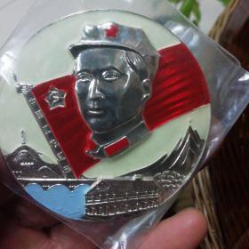 毛主席五角星军帽像章(中国工农红军旗)