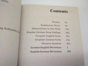 德语英语对照词典Merriam-Webster's German-English Dictionary