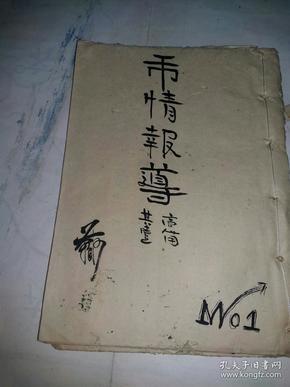 手抄本   市情报导(13面)