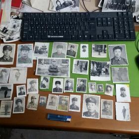 老照片35张合售一人当兵全家光荣