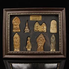珍藏古寺院出土老青铜佛牌一套