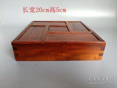 清代传世雕工不错的老黄花梨木首饰盒