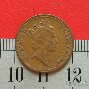 外国硬币英国硬币1便士伊丽莎白二世1988钱币真品保真货币收藏珍藏