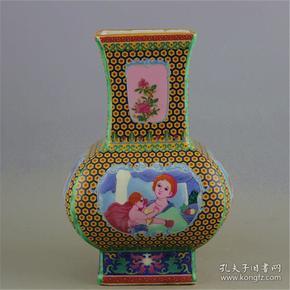 青花瓷盘子罐子杯子摆件文房用品古玩杂--老瓶