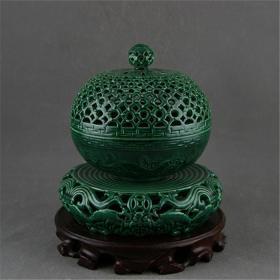 青花瓷盘子罐子杯子摆件文房用品古玩杂--香空香炉香薰