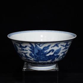 明成化青花海象纹碗